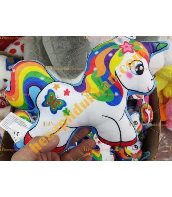 Toptan Peluş Oyuncak Unicorn Boynuzlu At