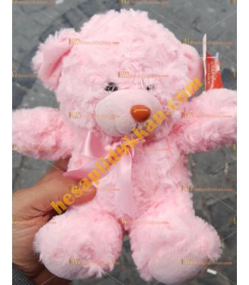 Toptan peluş oyuncak ayı pembe 15 cm