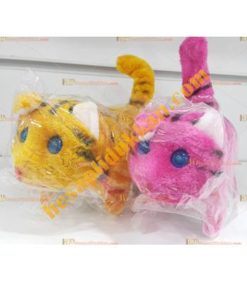 Toptan ışıklı oyuncak yürüyen sesli kedi
