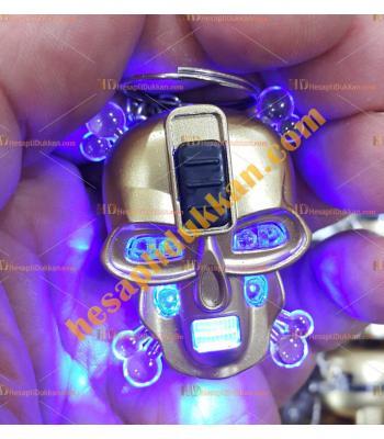 Toptan ucuz kuru kafa ışıklı anahtarlık