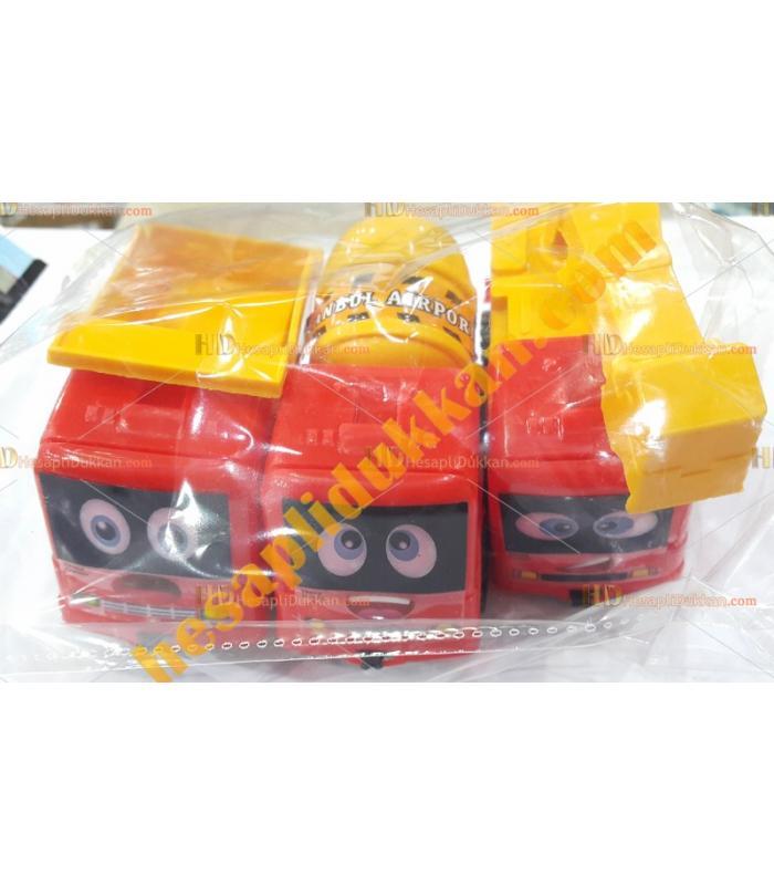 Toptan ucuz oyuncak iş makinesi seti kırmızı