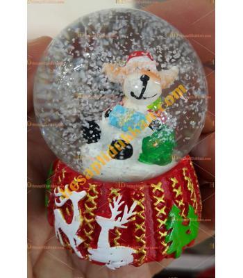Toptan Yılbaşı Kar Küresi Fiyatları En Ucuz Geyikli Noel Baba