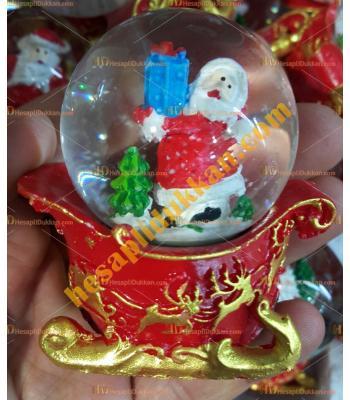Toptan Yılbaşı Kar Küresi Fiyatları En Ucuz Kızaklı Noel Baba
