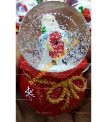 Toptan Yılbaşı Kar Küresi Fiyatları En ucuz Noel Baba Ak Sakallı