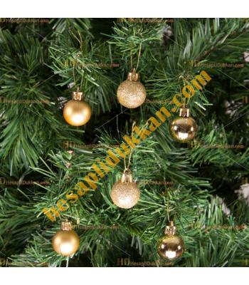 Yılbaşı Ağacı Süsü Lüks Altın Süsleme Seti 5 cm Ucuz Fiyat