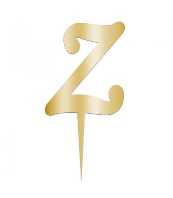 Toptan Pleksi Harf Aynalı Altın Z