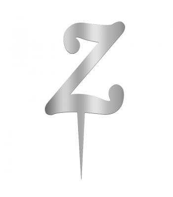 Toptan Pleksi Harf Aynalı Gümüş Z