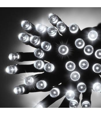 10 Metre Koyu Yeşil Kablo Eklenebilir Beyaz 100 Led Yılbaşı Işıkları
