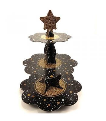 Toptan parıltılı yıldız kek standı pasta altlığı