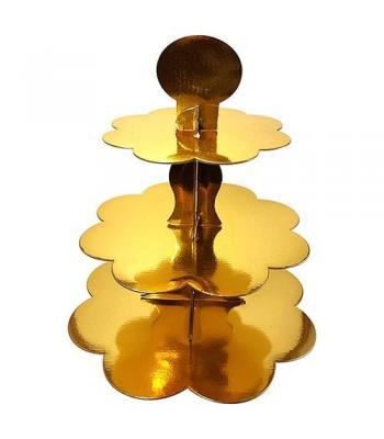 Toptan düz gold kek standı