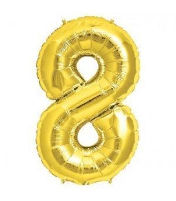 Toptan Gold Rakam 8 Folyo Balon 16 inc