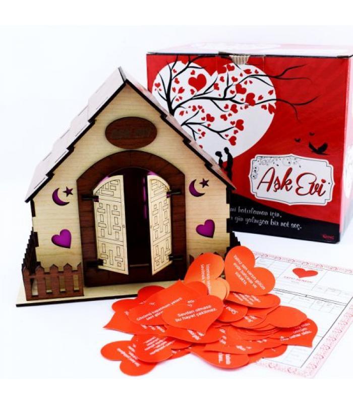 365 Gün Sevgi Sözleri Ahşap Aşk Evi Sevgiliye Hediye