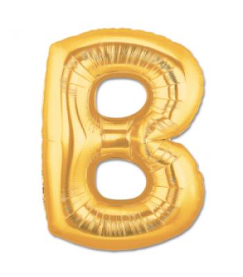 Toptan Gold Harf B Folyo Balon 16 inc