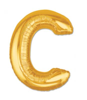 Toptan Gold Harf C Folyo Balon 16 inc