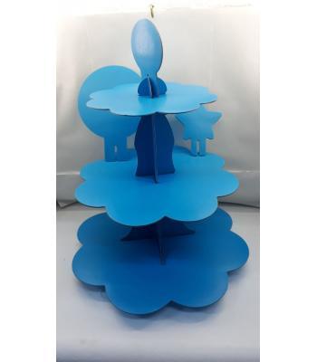Toptan düz mavi kek standı