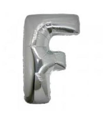 Toptan Gümüş Harf F Folyo Balon 16 inc