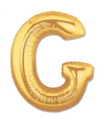 Toptan Gold Harf G Folyo Balon 16 inc