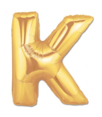 Toptan Gold Harf K Folyo Balon 16 inc