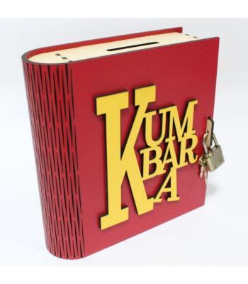 Kitap Görünümlü Ahşap Kilitli Kumbara