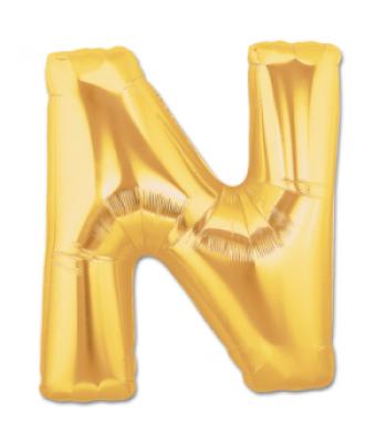 Toptan Gold Harf N Folyo Balon 16 inc
