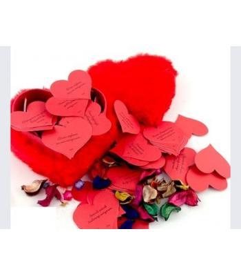 Sevgili için hediye toptan 365 gün kalpli peluş kalp kutu