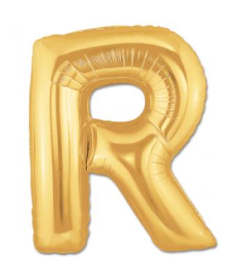 Toptan Gold Harf R Folyo Balon 16 inc