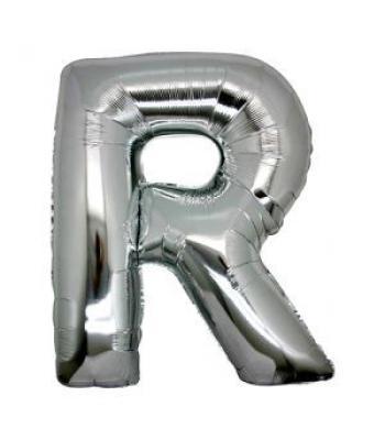 Toptan Gümüş Harf R Folyo Balon 16 inc