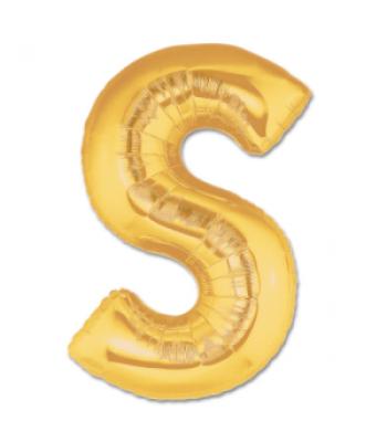 Toptan Gold Harf S Folyo Balon 16 inc