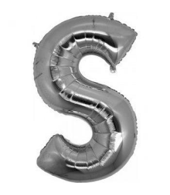 Toptan Gümüş Harf S Folyo Balon 16 inc