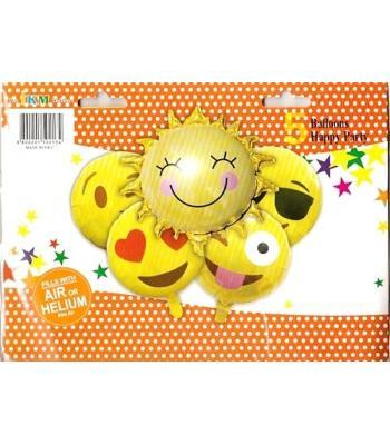 Toptan Smile Folyo Balon 5 li Set
