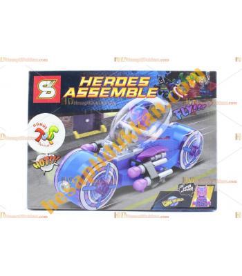 Süper kahramanlar lego motosiklet ucuz promosyon oyuncak