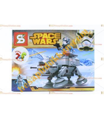 Uzay savaşları robot tank lego eğitici eğlenceli oyuncak