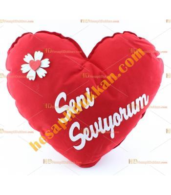 Sevgililer günü kalp yastık 40 cm
