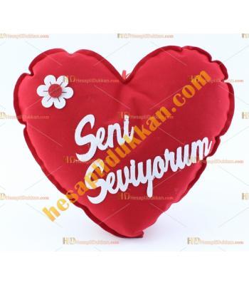 Sevgiliye hediye kalp yastık 25 cm