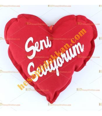 Sevgililer günü hediyesi kalp yastık 20 cm