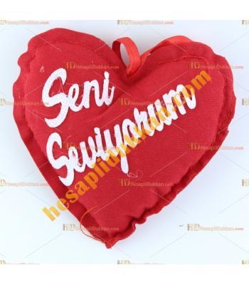 Sevgililer günü hediyesi mini kalp yastık 13 cm