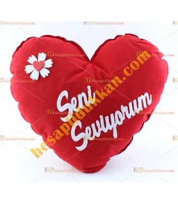 Sevgililer günü hediye kalp yastık 30 cm