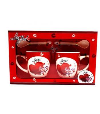 Seramik Kupa Bardak Desenli Sevgiliye Hediye Toptan