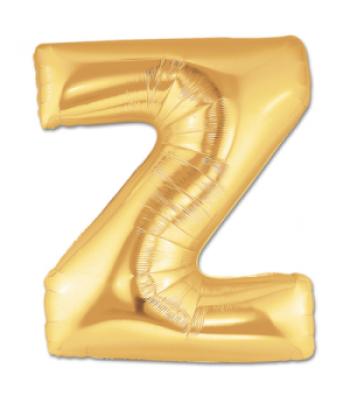 Toptan Gold Harf Z Folyo Balon 16 inc