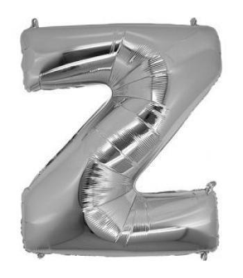 Toptan Gümüş Harf Z Folyo Balon 16 inc