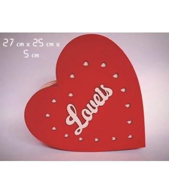 Toptan Ahşap Love Yazılı Sevgiliye Hediye Kutusu