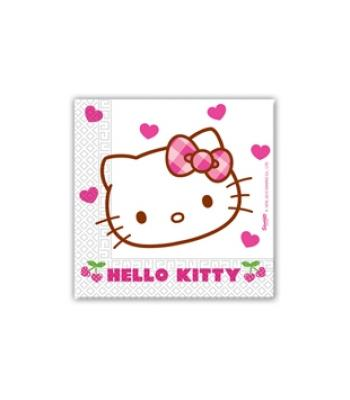 HELLO KITTY HEARTS KAĞIT PEÇETE 33x33cm (20 AD)