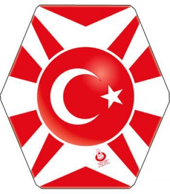 Kırmızı beyaz türkiye bayraklı uçurtma