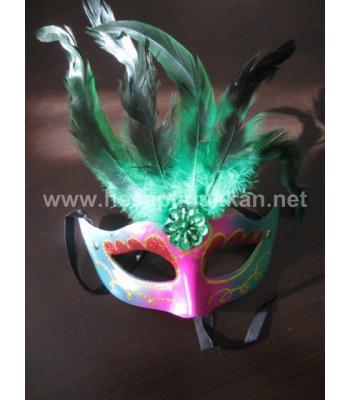 Alın tüylü yılbaşı maskesi P263