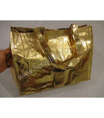 Altın sarısı parlak plaj çantası P647