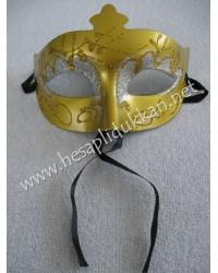 Altın sarısı yaldızlı simli maske P853