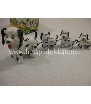 Anne köpek ve yavruları kurmalı oyuncak P500