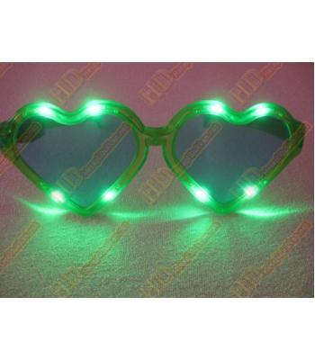 Büyük kalpli ışıklı parti gözlükleri R128