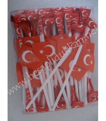 Bayram çubukları bayraklı ve üfle şişirli R58