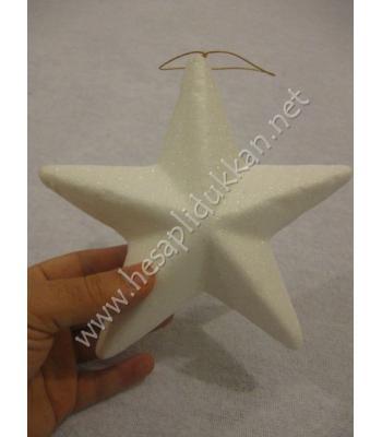 Beyaz yıldız yılbaşı ağacı süsleri P964